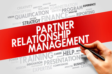 Partner Relationship Management word cloud, business concept