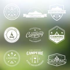 Set of retro badges and logo.