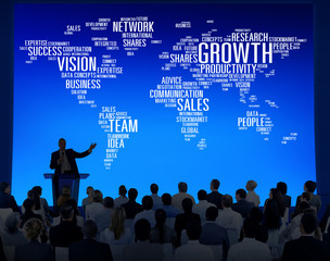 Global Business People Corporate Conference Growth Concept