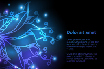 Shiny floral background for your design