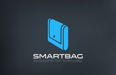 Bag Logo design vector template. Creative portfolio logotype