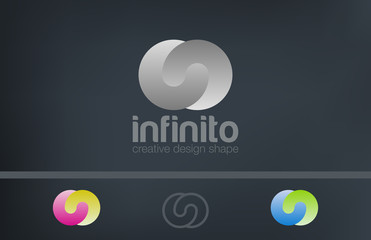 Logo infinity loop abstract vector design template