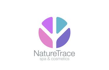 Abstract Circle Logo Trace design vector. Nature icon