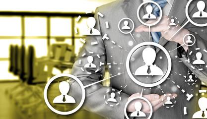 protect social connection concept