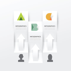 Modern Infographic banner design template. vector illustration
