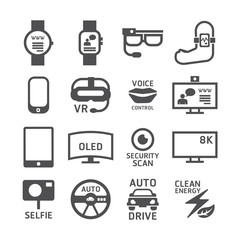 Icons set technology vector design.