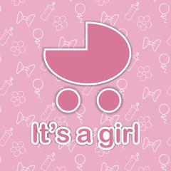Card design for newborn girl