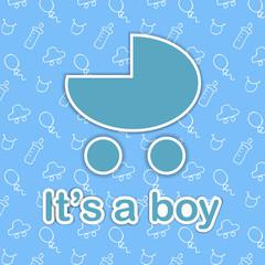 Card design for newborn boy