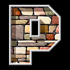 stone letter P