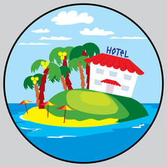 beach hotel emblem
