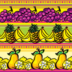fruit on a striped seamless