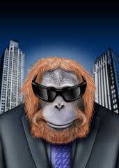 orang utan business brille