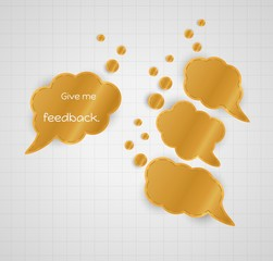 give me feedback speech bubble with empty bubbles