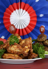 Super Bowl Sunday football party celebration food