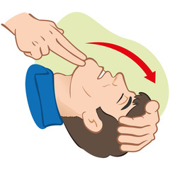 First Aid resuscitation (CPR), clearing breathing, positioning