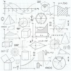 Mathematik, Geometrie, Formelsammlung, Formeln, Symbole, Mathe