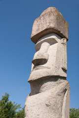 Rapa Nui Statue in Viterbo, Italy
