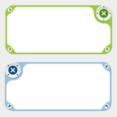Two vector frames and arrows and multiplication symbol