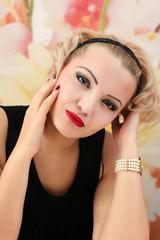 Beauty Salon Fashion girl portrait