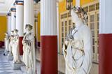 Statues in Achillion Palace in Corfu island, Greece