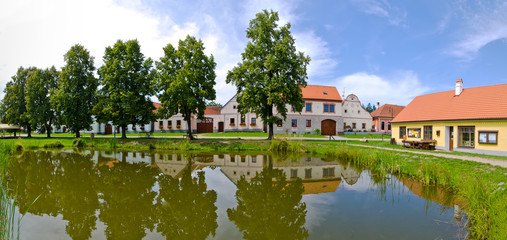 Holasovice in Czech Republic - village on UNESCO heritage list