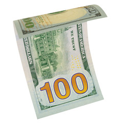One hundred dollars isolated.