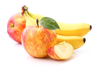 Apple with banana