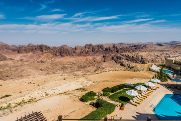 scenic view of the Petra valley Jordan