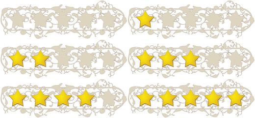 Rating stars (1900 style)