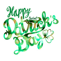 Saint Patrick day lettering design