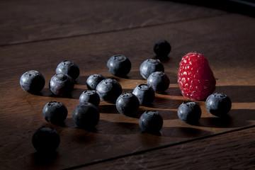 Früchte im Seitenlicht