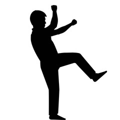 Silhouette man falling down, vector format