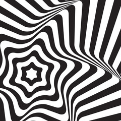 Black and white op art star