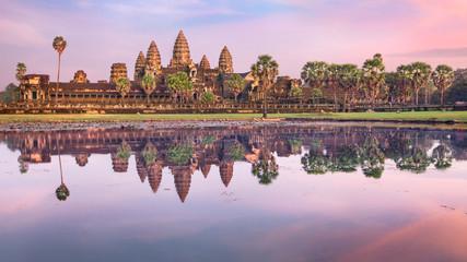 Angkor Wat temple at sunrise, Siem Reap, Cambodia