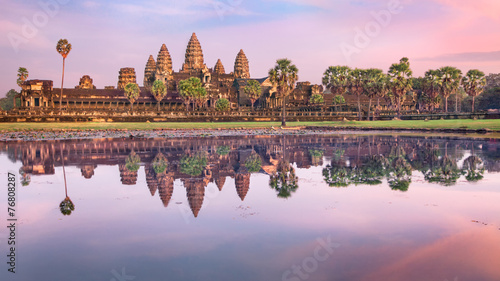 Deurstickers Rudnes Angkor Wat temple at sunrise, Siem Reap, Cambodia