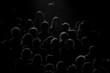 Leinwanddruck Bild - real audience silhouette
