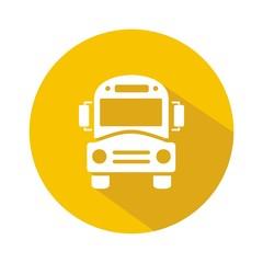 Icono bus escolar amarillo reflejo