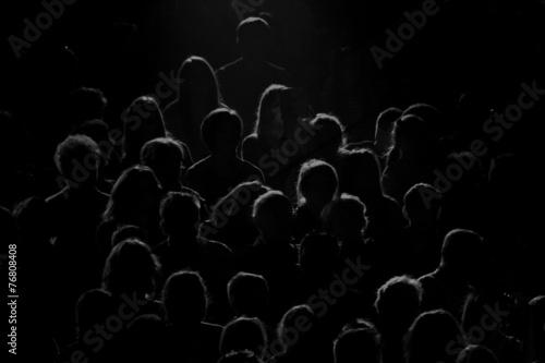 Leinwanddruck Bild real audience silhouette