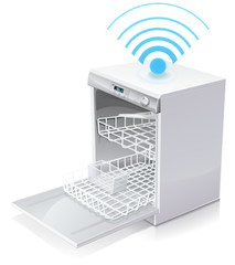 connected dishwasher