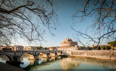 Château et pont Saint Ange, Rome