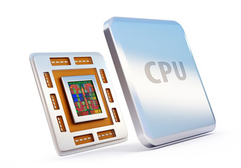 computer cpu (central processor unit) chip