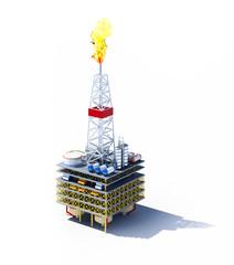 oil platform isolated on white