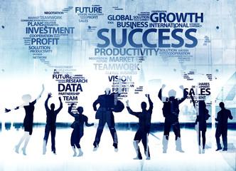 Business Team Success Corporate Winning Celebration Concept