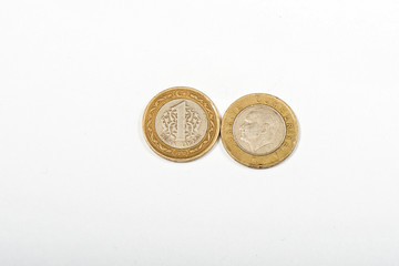 Turkish coin 2 liras