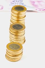 Turkish coin liras tower