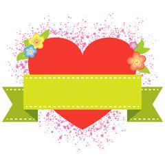 banner valentine background - vector illustration