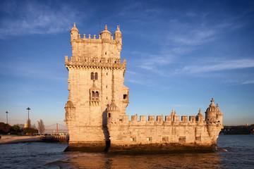 Belem Tower in Lisbon at Sunset