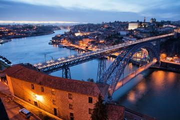 Porto Cityscape in Portugal at Twilight