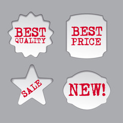 promotion sale labels