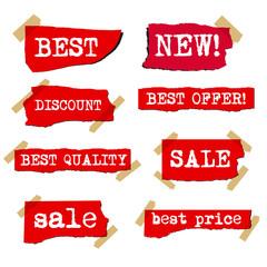 promotion sale labels